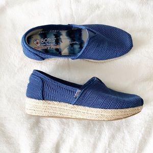 Skechers Bobs Blue Mesh knit Slip on Espadrilles